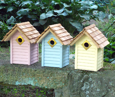 New Beach Hut Birdhouses