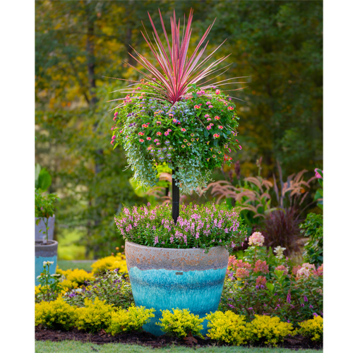 PAMELA CRAWFORD'S BASKET COLUMN FOR LARGE POTS