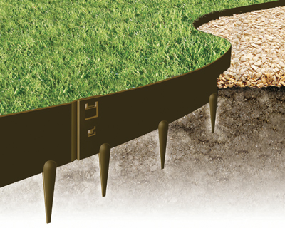 EVEREDGE - Flexible Steel Garden Edging - 4 - 5 SECTIONS