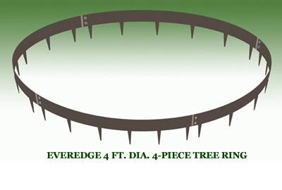 EVEREDGE 4 FT. DIA. 4-PIECE TREE RING