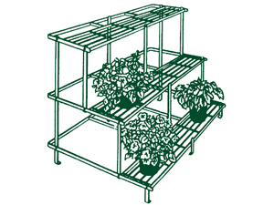 RECTANGLE TIERED PLANT STAND