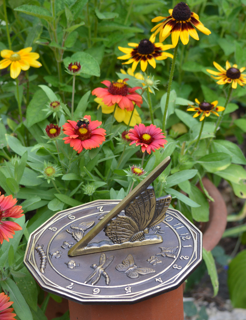 SOLID BRASS BUTTERFLY SUNDIAL