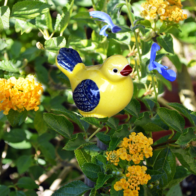 CS/12 - SMALL GLAZED YELLOW BIRD