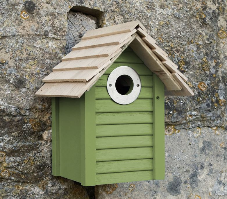 CS/3 - BEACH HUT BIRDHOUSE-GREEN